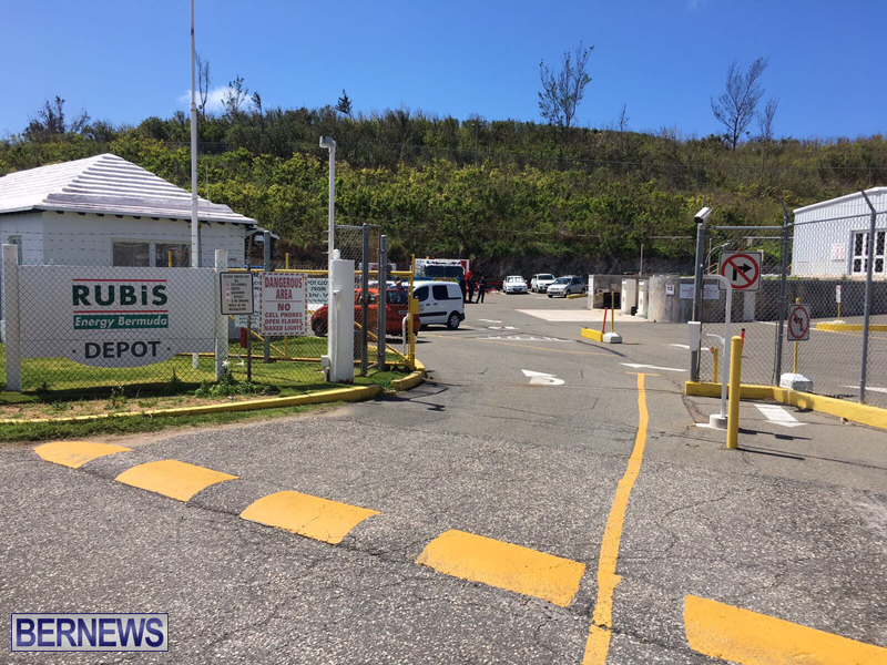 Fire Service at Rubis Ferry Reach Bermuda March 28 2017 (2)