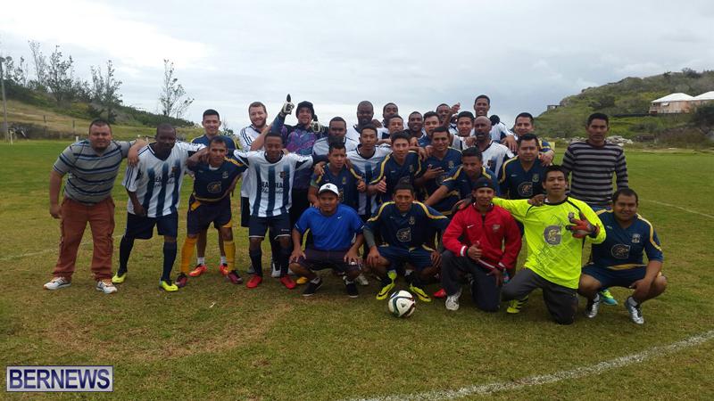 Guatemalan workers Football Bermuda March 2017