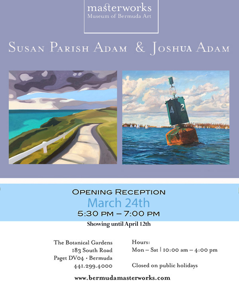 Joshua and Susan Adams joint exhibition Bermuda March 2017