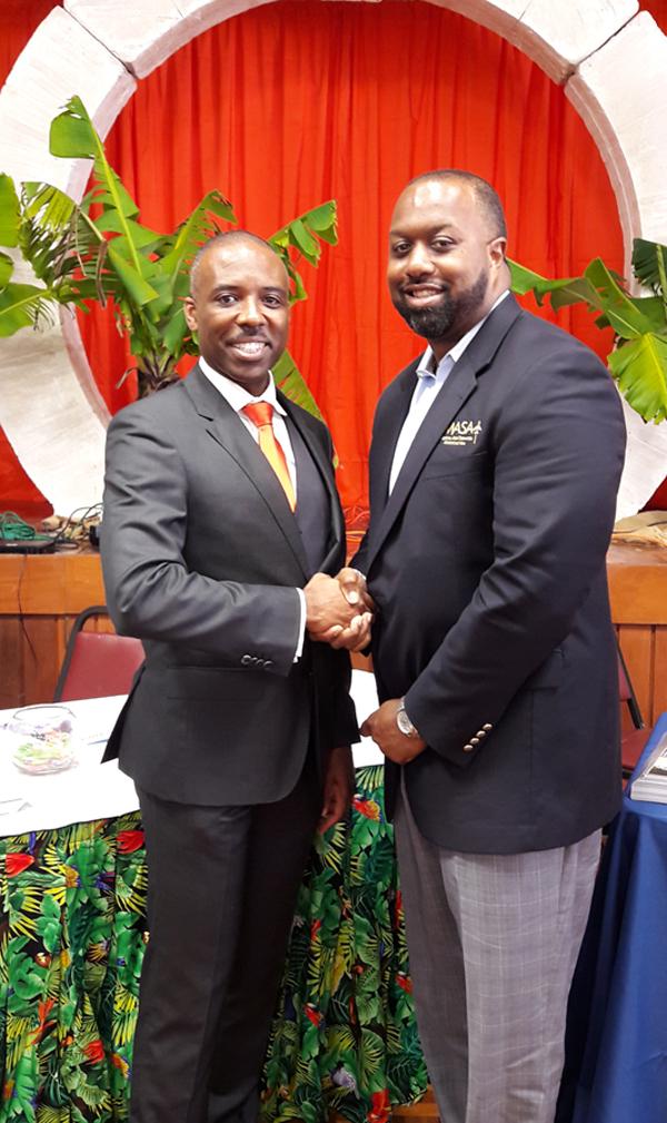 Leon Bascome and Reggie Anderson Bermuda March 2017