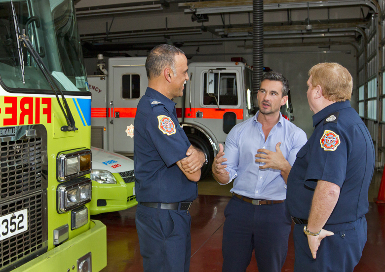 Minister Baron and Fire Service Bermuda March 9 2017 (2)