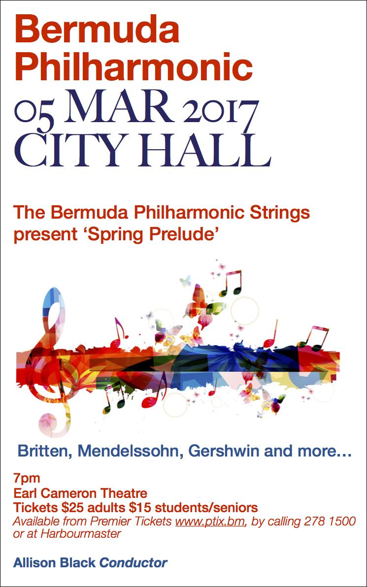 Philharmonic concert Bermuda March 2017