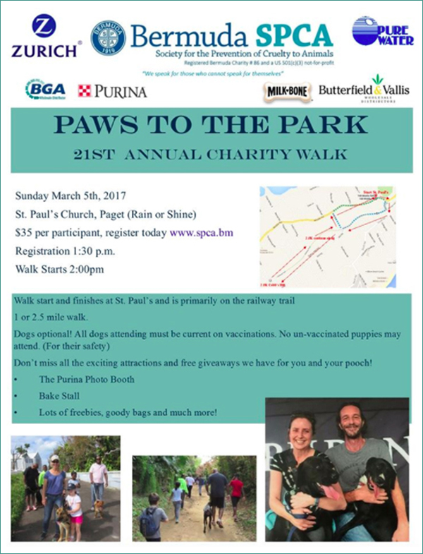 SPCA Paws to the Park Bermuda March 2017