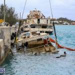 Sunken Boat Ships Marginal Wharf Bermuda, March 30 2017-1