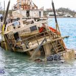 Sunken Boat Ships Marginal Wharf Bermuda, March 30 2017-11