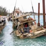 Sunken Boat Ships Marginal Wharf Bermuda, March 30 2017-18