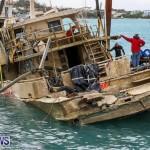 Sunken Boat Ships Marginal Wharf Bermuda, March 30 2017-21