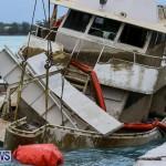 Sunken Boat Ships Marginal Wharf Bermuda, March 30 2017-24