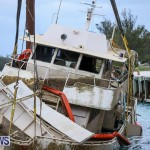 Sunken Boat Ships Marginal Wharf Bermuda, March 30 2017-30