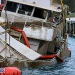 Sunken Boat Ships Marginal Wharf Bermuda, March 30 2017-31