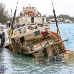 Sunken Boat Ships Marginal Wharf Bermuda, March 30 2017-9