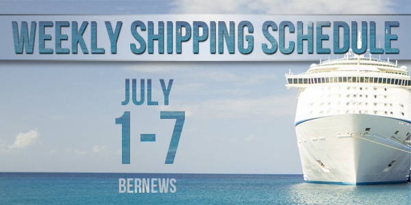 Weekly Shipping Schedule Bermuda TC July 1 - 7 2017