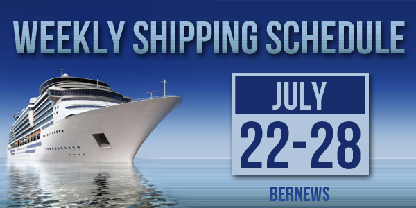 Weekly Shipping Schedule Bermuda TC July 22 - 28 2017
