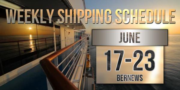 Weekly Shipping Schedule Bermuda TC June 17 - 23 2017