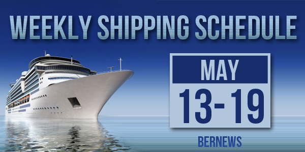 Weekly Shipping Schedule Bermuda TC May 13 - 19 2017