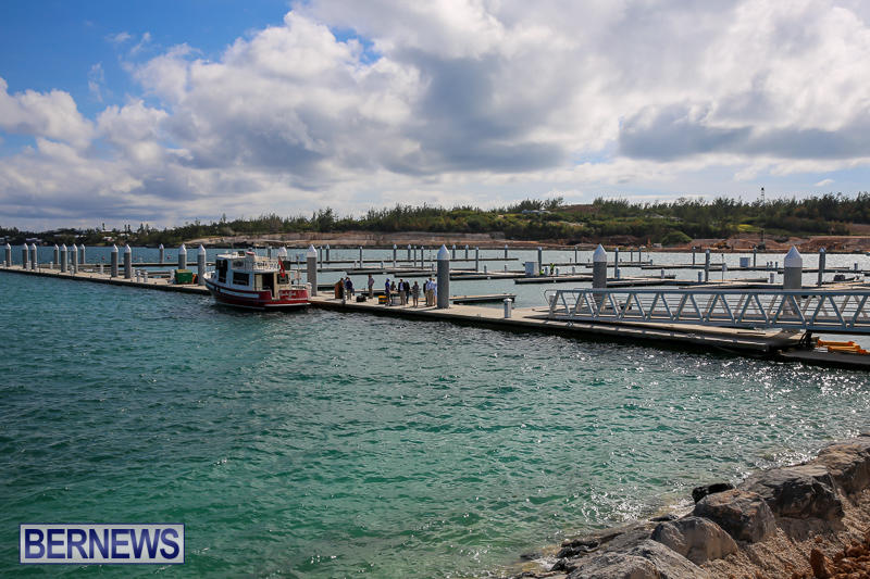 Caroline Bay Marina Dock Wetting Bermuda, April 24 2017-1
