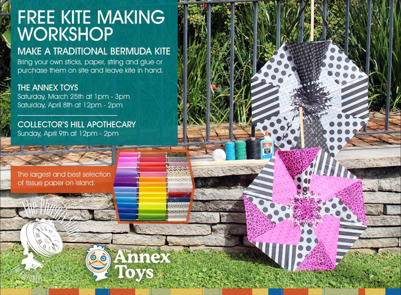 Free Kite Making Workshops Bermuda April 2017