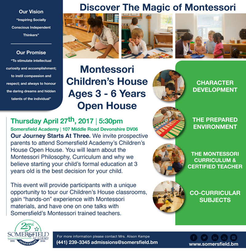 Montessori Children's House Bermuda April 2017