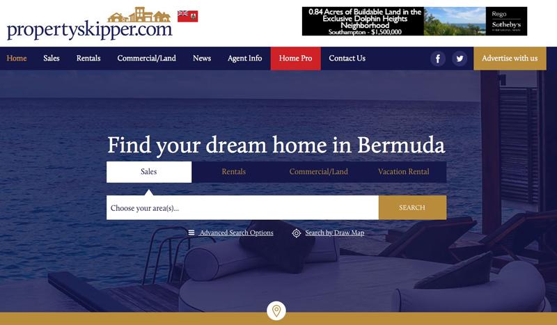Propertyskipper site relaunch Bermuda April 2017
