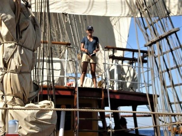 Sarah Maybury on board the Bark Europa April 12 2017