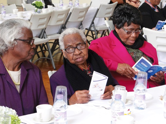Seniors Tea Sheila Ming, Inez Williams and Astrid Moniz Bermuda April 13 2017 (2)