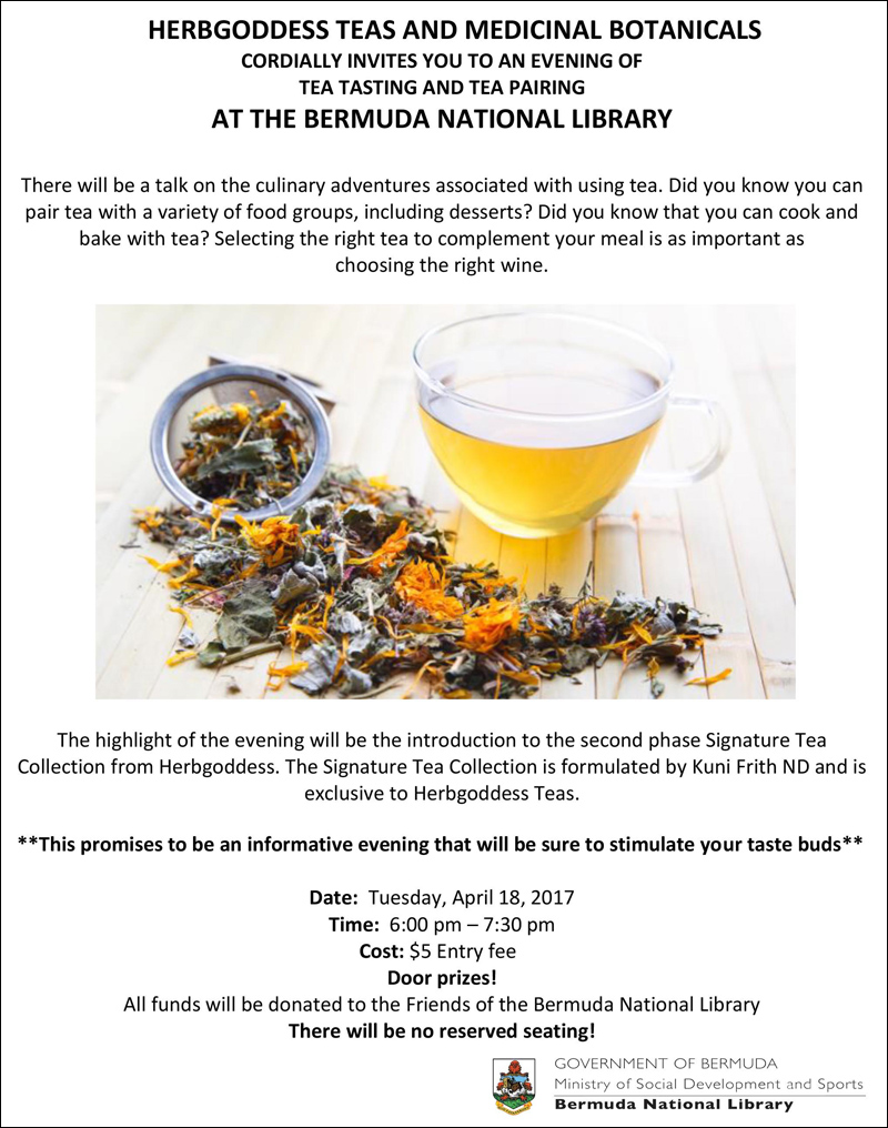 Tea Pairing at the Library Bermuda April 2017