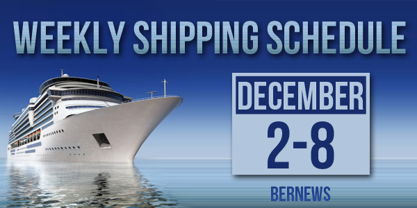 Weekly Shipping Schedule TC December 2 - 8 2017