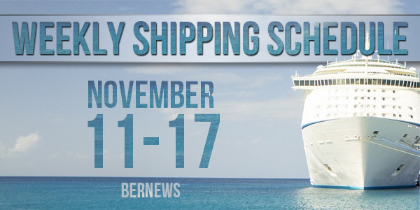 Weekly Shipping Schedule TC November 11 - 17 2017