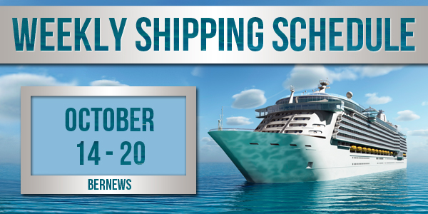 Weekly Shipping Schedule TC October 14 - 20 2017