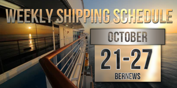 Weekly Shipping Schedule TC October 21 - 27 2017