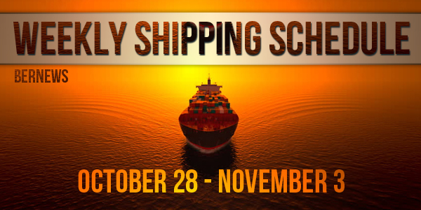 Weekly Shipping Schedule TC October 28 - November 3 2017
