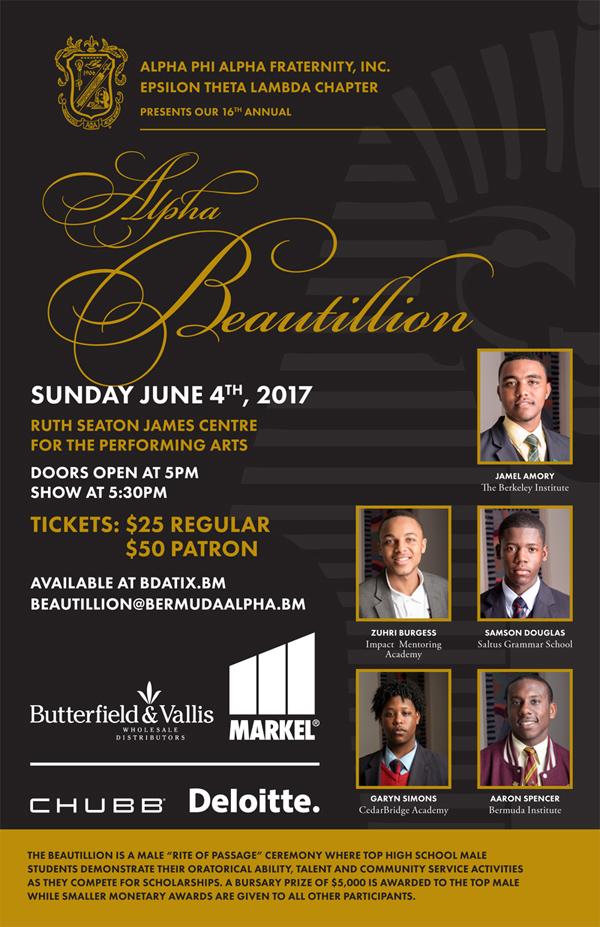 Alpha Beautillion Bermuda May 2017