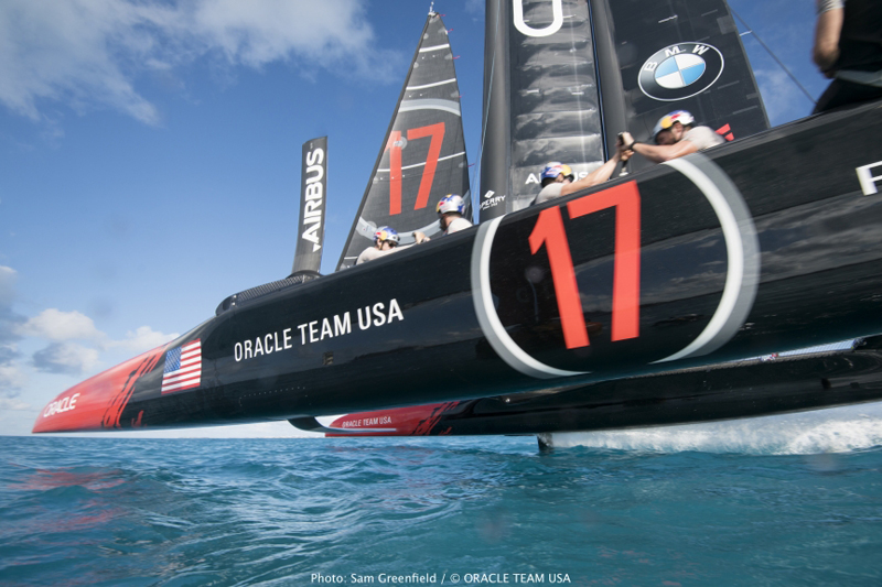ORACLE TEAM USA training in Bermuda