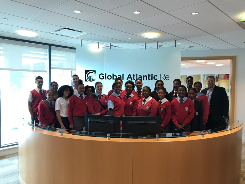 CedarBridge students at Global Atlantic Bermuda May 2017