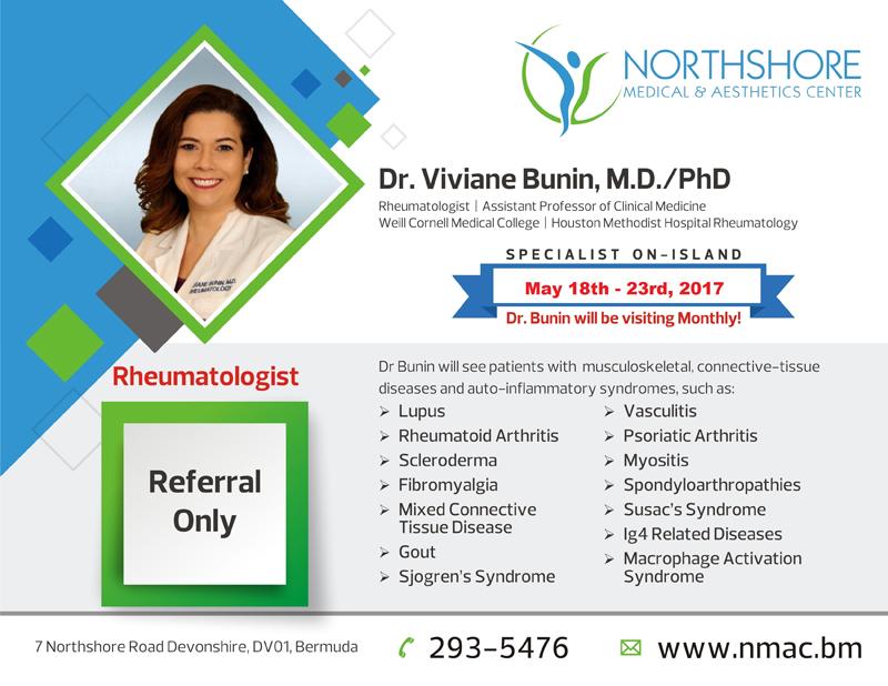 Dr Viviane Bunin Bermuda May 2 2017