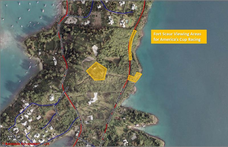 Ft Scaur Viewing Areas - ACBDA Bermuda May 2017