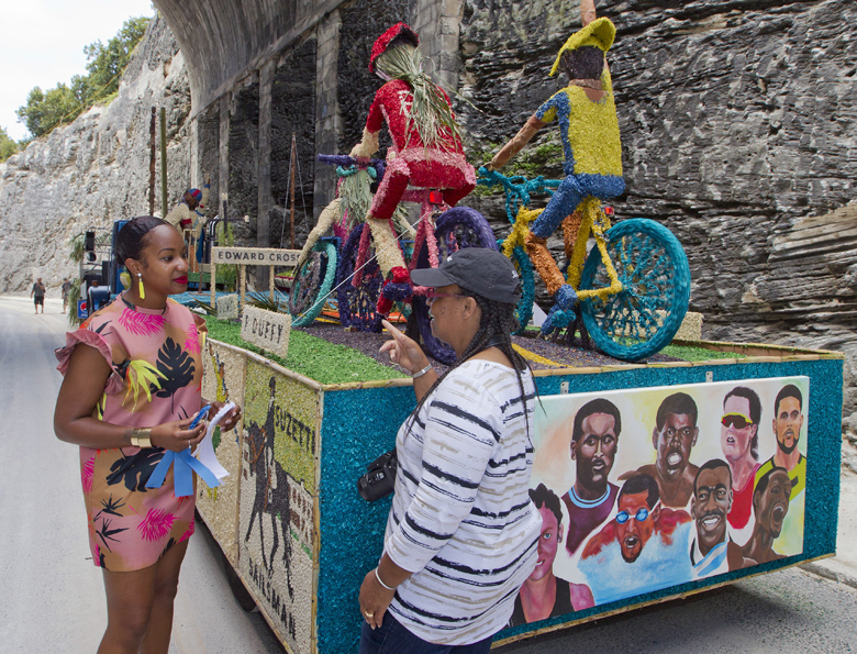 Minister Bermuda Day Parade Float Judge May 29 2017 (3)