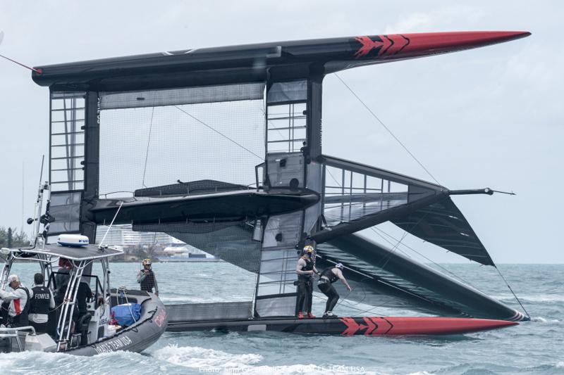 ORACLE TEAM USA training in Bermuda
