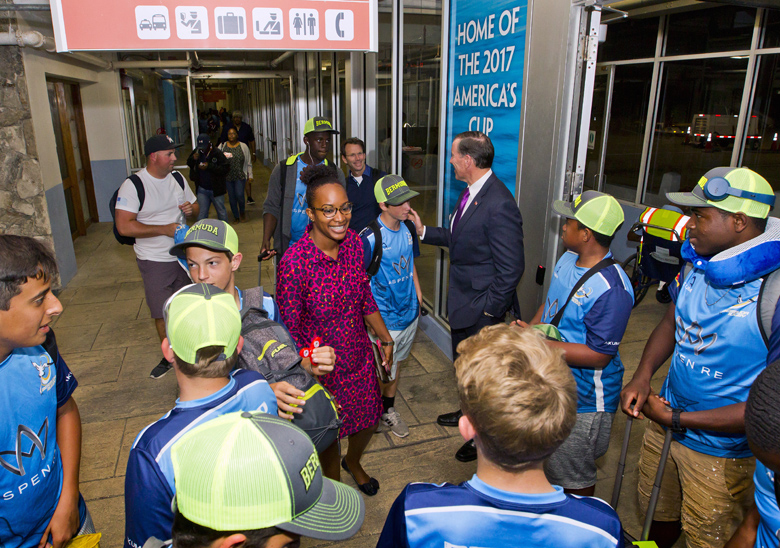 Premier Minister Youth Rugby Team Arrival Bermuda May 2017 (3)