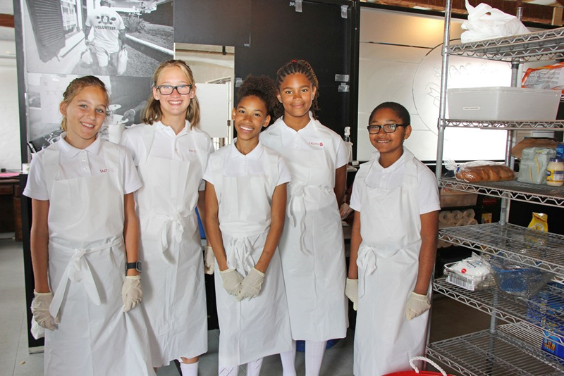 Saltus Students Visit Food Bank Bermuda May 2017