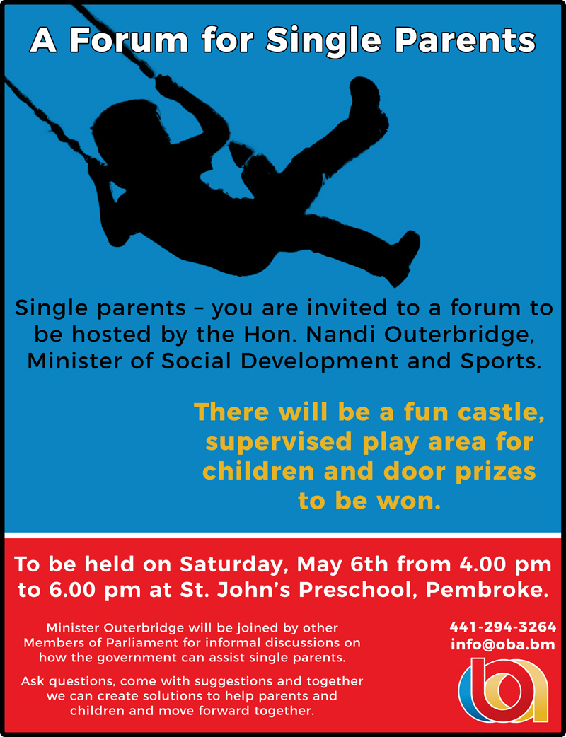 Single Parent forum Bermuda May 2017