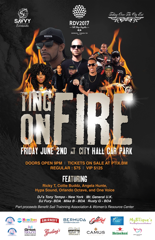 Ting On Fire & Collie Buddz Concert Bermuda May 2017