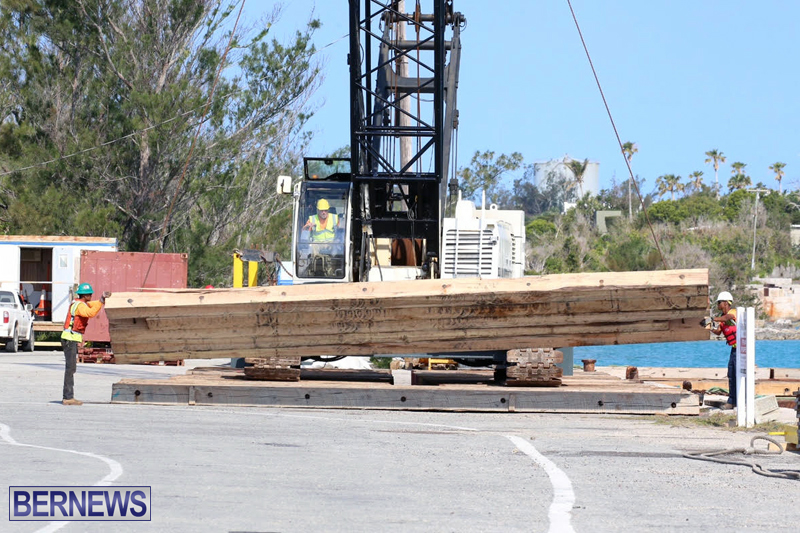Trucks and cranes at Marginal Wharf Bermuda May 16 2017 (1)