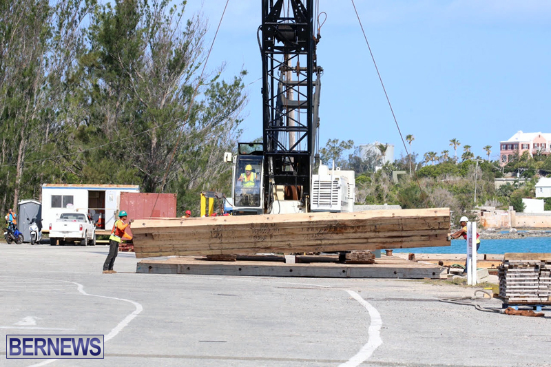 Trucks and cranes at Marginal Wharf Bermuda May 16 2017 (2)