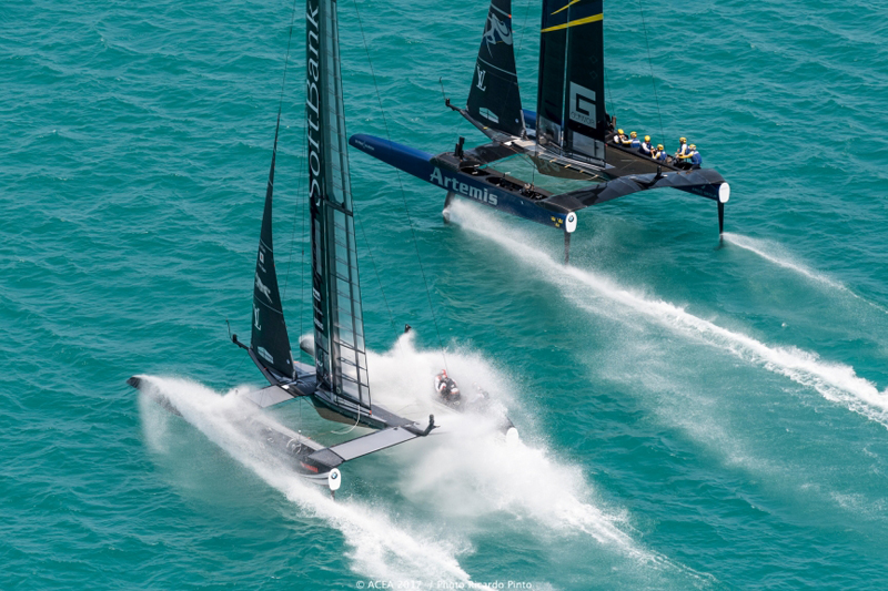 Yacht spectacularly capsizes during America's Cup
