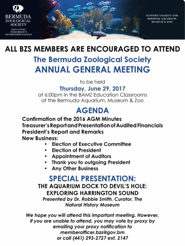 BZS Annual General Meeting Bermuda June 2017