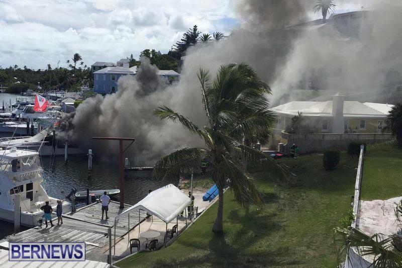 Boat Fire Bermuda, June 27 2017 (3)