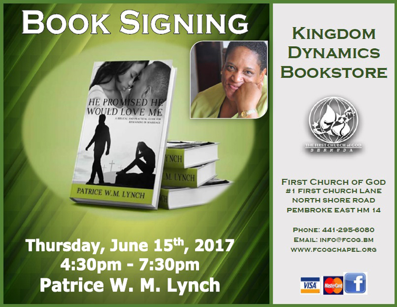 Book signing Patrice Lynch Bermuda June 2017