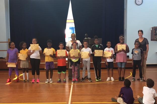 Braille club at East End Primary Bermuda June 8 2017