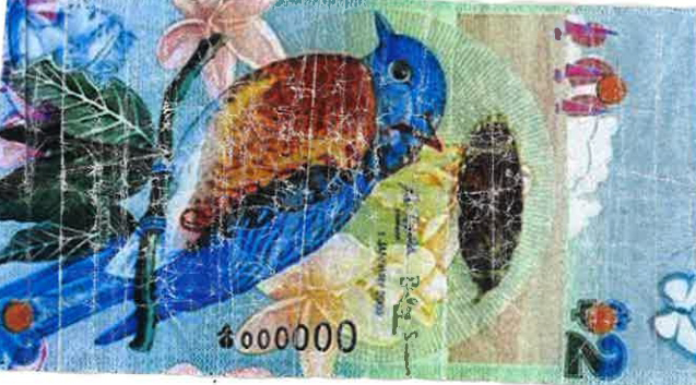 Counterfeit Bermuda $2 Note 000000 June 5 2017